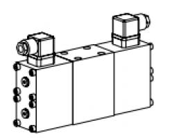 Клапан тарельчатый фланцевый с электроуправлением, двойное исполнение