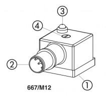 667/M12 Электрические разъемы DIN с интерфейсом M12