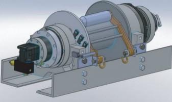 Лебедка гидравлическая ТМТ-200-100S-3DM, 225 кН, 60 м, канат 22 мм, 4,8 м/мин