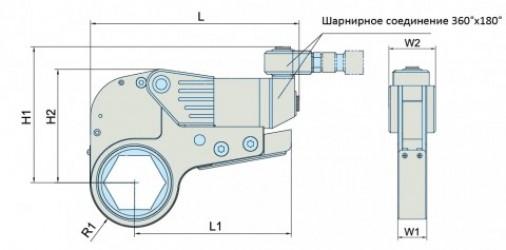 Гидравлический динамометрический ключ серия SDU до 181 000Нм